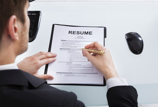 While Writing a Resume